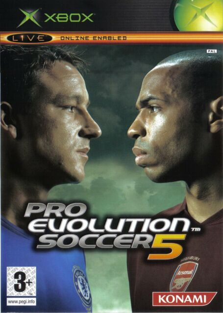 PES Pro Evolution Soccer 5 (Xbox) Xbox - Konami PAL (Ages 3+) - Box K1