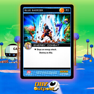 Dragon Ball Z DBZ TCG Panini Promo P18 Blue Terror Foil Premiere