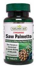 Saw Palmetto 500mg x 90 tablets Vegan Vegetarians - Natures Aid - FREE UK POST