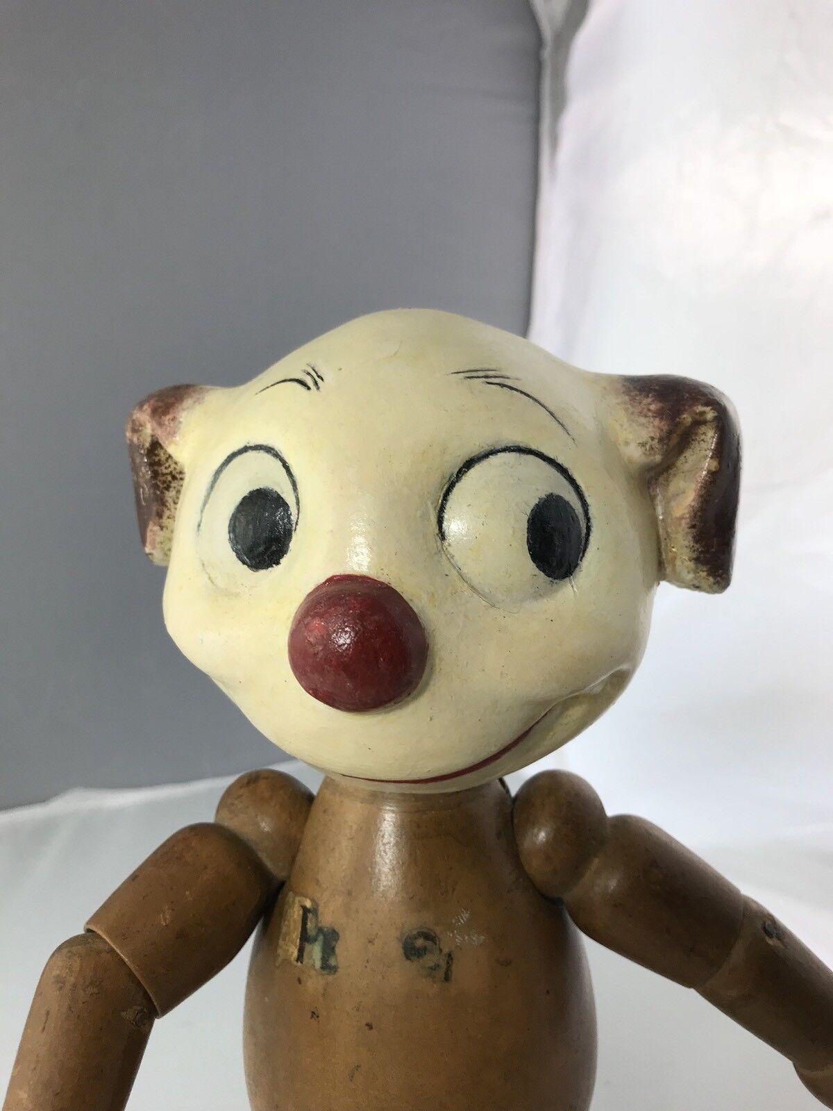 """11"""" Antique Composition e Wood Pete The Pup    Very Rare modello    controlla il più economico"""