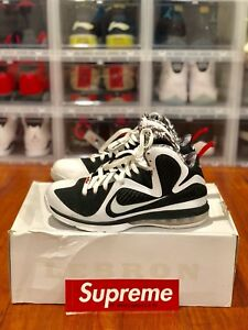 save off ee053 b6df8 Image is loading Nike-Lebron-9-Freegums-IX-White-Black-Red-