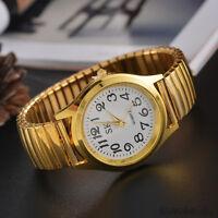 Ladies Elegant Elastic Stainless Steel Wristwatch Quartz Womens Dress Watch LSM