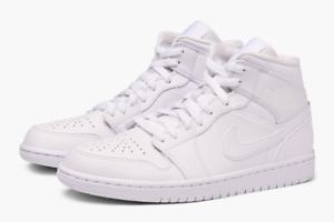air jordan 1 mid triple white sneakers lifestyle casual