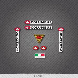 0249 Columbus Tubes Renforces Bicyclette Cadre Et Fourche Autocollants-decals-afficher Le Titre D'origine à Tout Prix