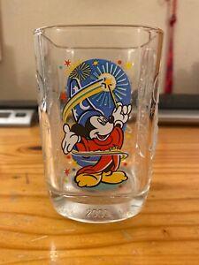 2000-Millennium-Walt-Disney-World-McDonald-Glass-Cup-Epcot-Mickey-Mouse