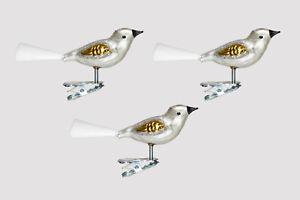 Christbaumschmuck Vogel 3 Stuck El Silber Gold H Lauscha