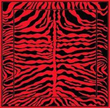 NEW ANIMAL SKIN ZEBRA w/ Border AFRICAN WILDLIFE SAFARI 5x8 RUG Red and Black