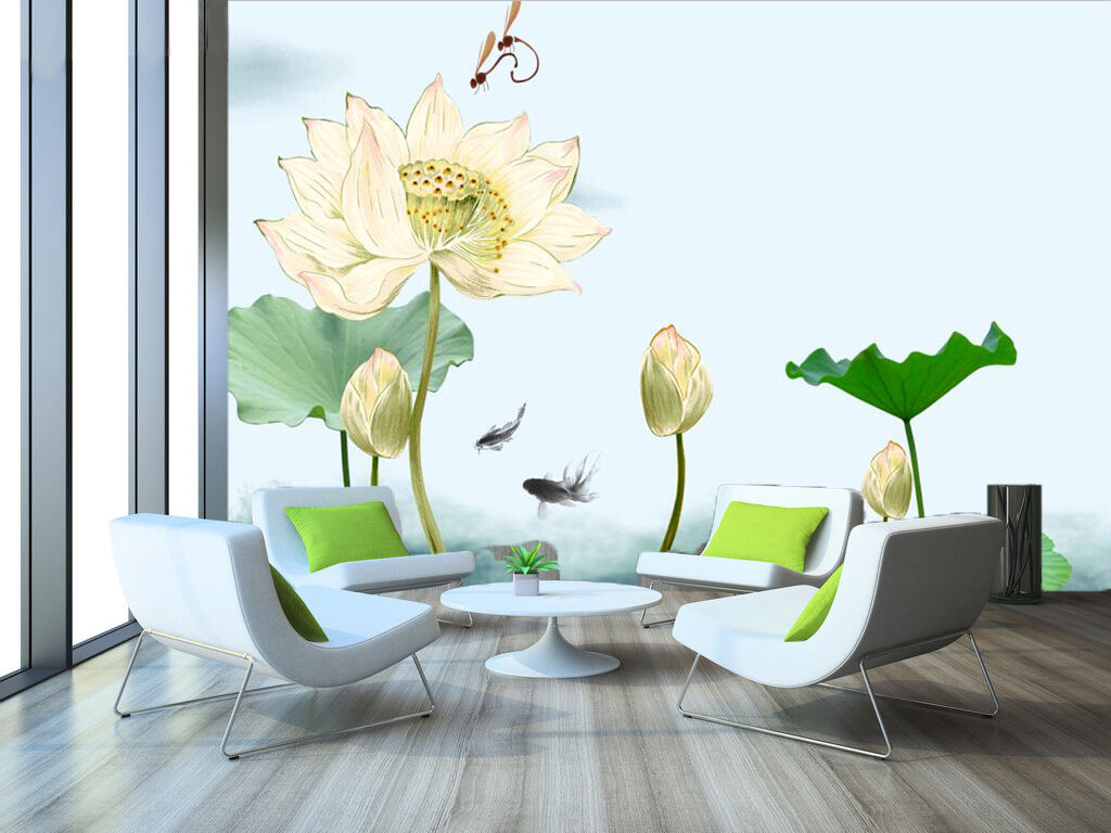 3D Purity Lotus 365 Wand Papier Wand Drucken Decal Wand Deco Innen AJ Wand Papier