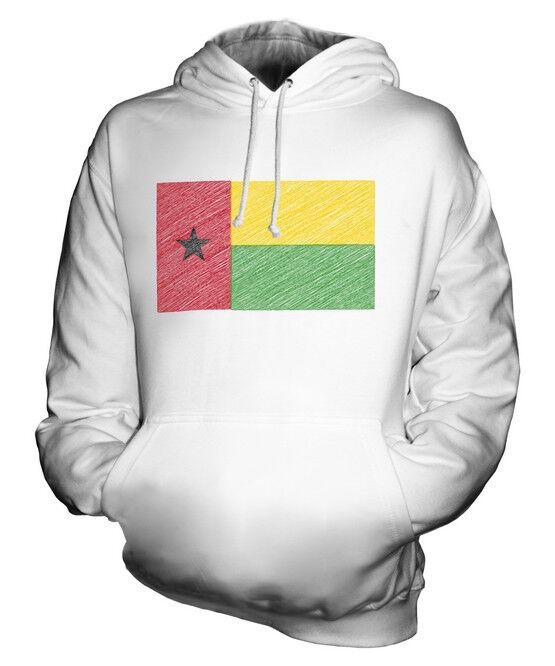 GUINEA-BISSAU KRITZELTE FLAGGE UNISEX KAPUZENPULLOVER HOODIE PULLI HERREN DAMEN
