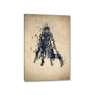 Bloodborne Splash Art Typografie 90x60cm Leinwandbild auf Keilrahmen Caro Art
