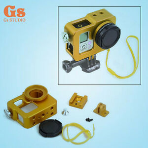 New-Yellow-Aluminium-Alloy-Protective-Case-Housing-Shell-For-GoPro-Hero3-3