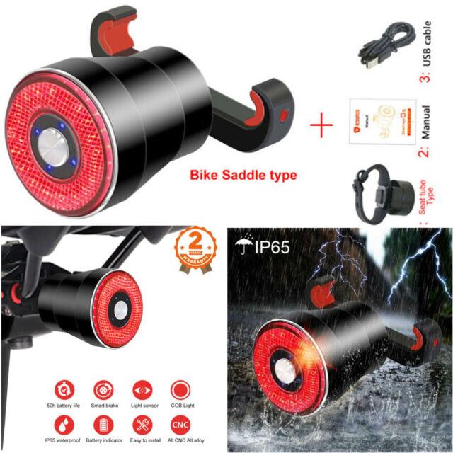 Xlite100 Smart Bike Bicycle Rear Light Auto Start Stop Brake Sense LED Lamp