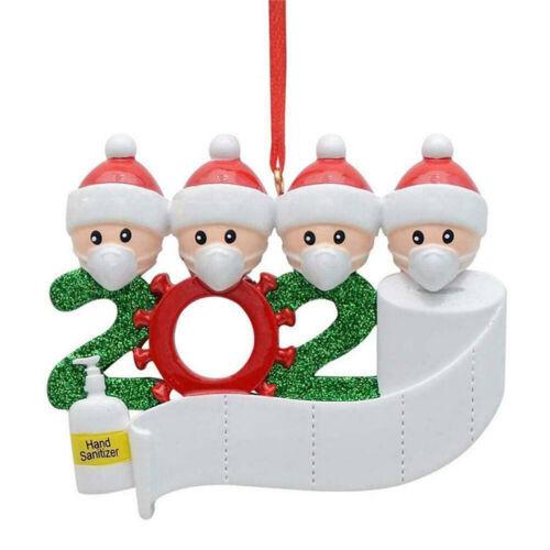 2020 Xmas Christmas Tree Hanging Ornaments Santa Claus Family Ornament Decor UK