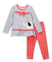Gray & Pink Elephant Tunic & Leggings Set - Size 5 Nannette Girl