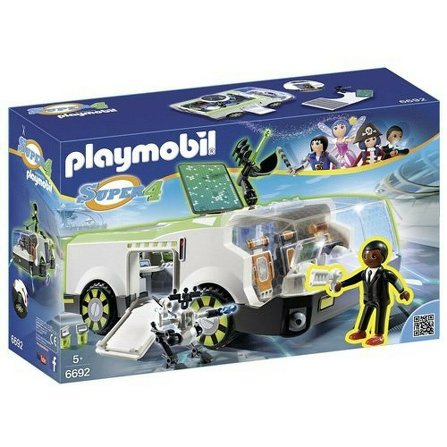 Playmobil 6692 Super 4 Techno Chameleon with Gene