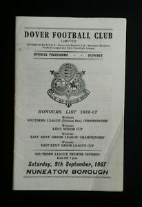 Dover-v-Nuneaton-Borough-Programme-09-09-66