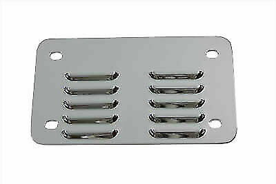 License Plate Backing Plate Louvered Style Chrome for Harley Davidson by V-Twin