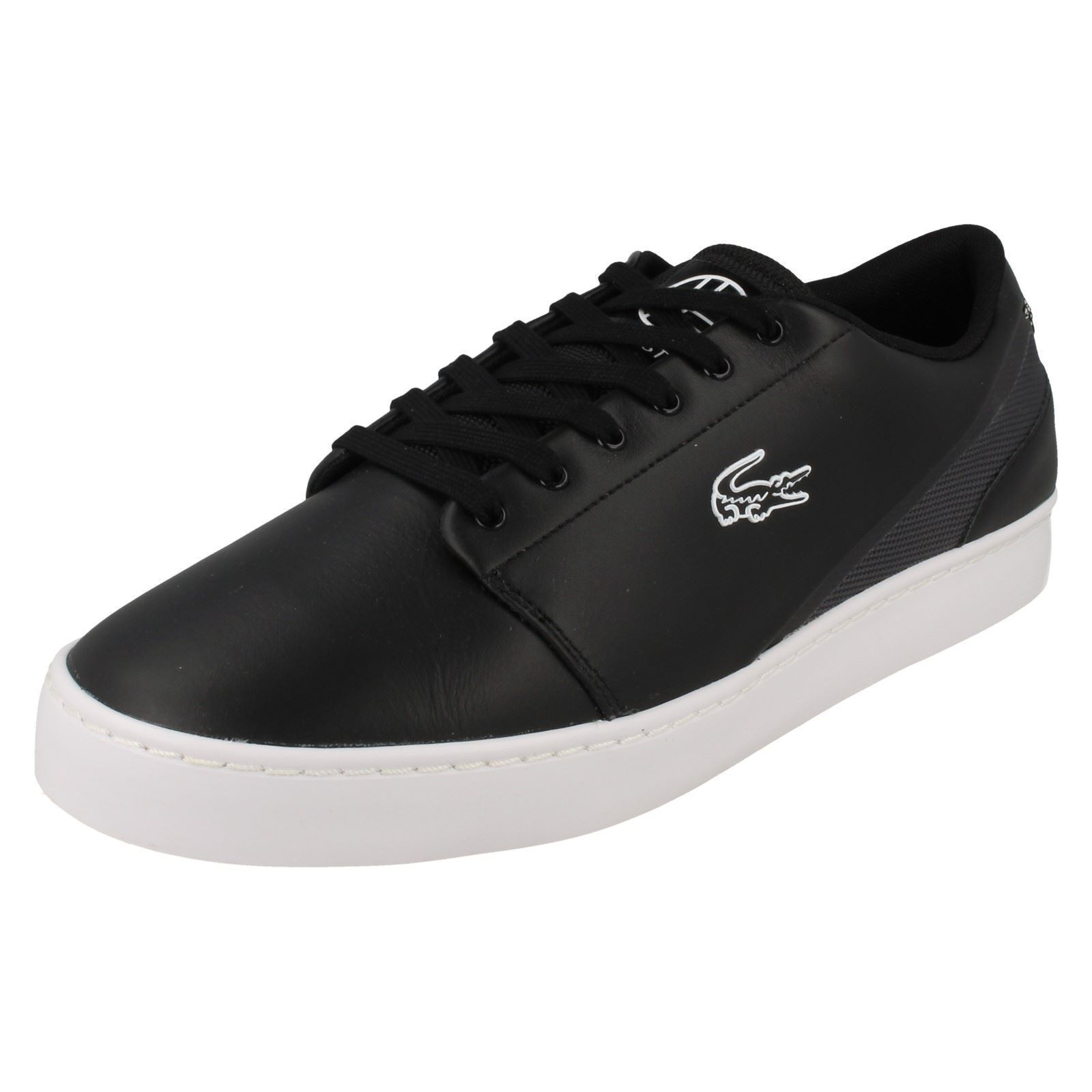 Mens Lacoste Black Lace Up Trainers UK Sizes 9-11 Court Legacy FLX