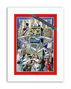 SCIENCE-MAGAZINE-COVER-COMPUTER-SOCIETY-ROBOT-OFFICE-Poster-Canvas-art-Prints