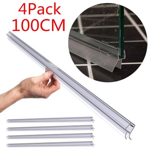 4 PCS 39in 6mm Frameless Shower Door Sweep Seal Glass Door Bottom Wipe Drip Rail