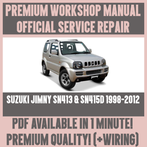 workshop manual service repair guide for suzuki jimny sn413 sn415d rh ebay co uk suzuki jimny m13a workshop manual Service ManualsOnline