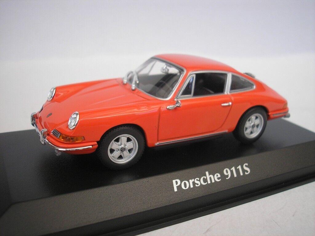 Porsche 911 S 1964 orange 1 43 maxichamps 940067120 NEW