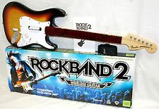Official ROCK BAND 2 xbox 360/ONE Fender SUNBURST Wireless Guitar in Box 4 3 1