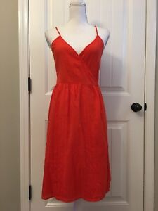 460361b0ca4 Image is loading New-Madewell-Sicily-Cover-Up-Wrap-Dress-Red-