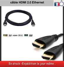 Câble HDMI 2.0 plaqué OR - 1,50 m soutien 4 K