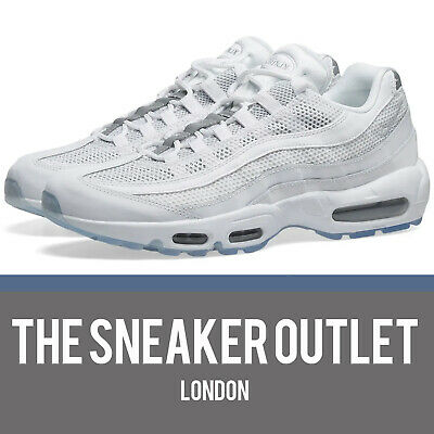 New Hommes Nike Air Max 95 Essential taille uk 8.5 Baskets Blanc 749766 039 | eBay