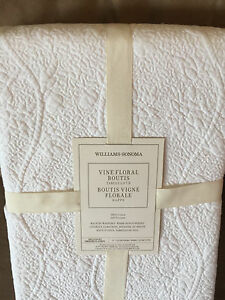 Image Is Loading Williams Sonoma Vine Floral French Boutis Quilted  Tablecloth
