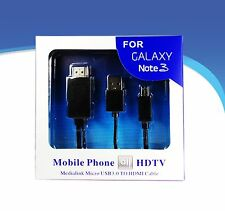 MHL Micro USB to HDMI TV AV Cable Adapter HDTV for Samsung Galaxy Note 3 S4 S5 3