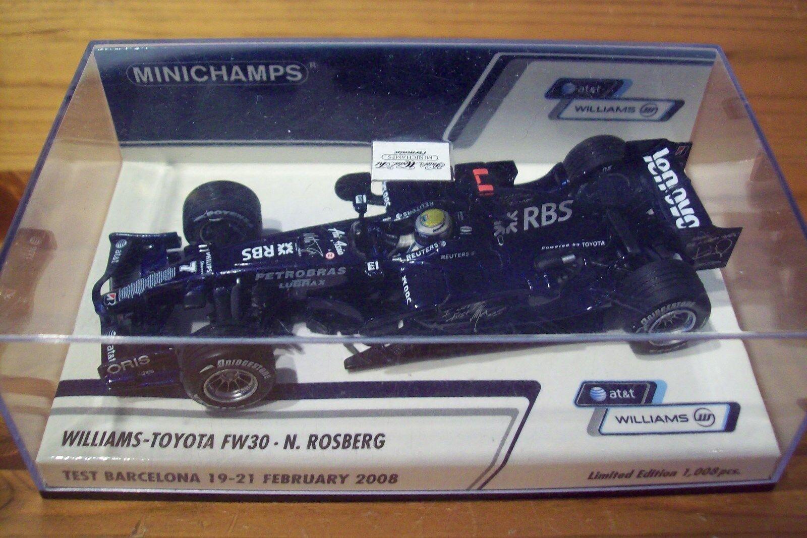 1 43 WILLIAMS 2008 FW30 NICO ROSBERG BARCELONA 19-21 FEB