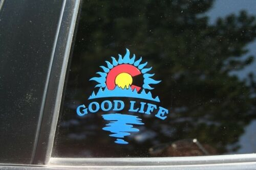 Colorado state flag good life die cut sticker