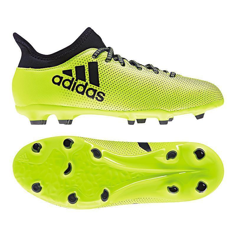 Adidas x 17.3 Fg J 3338 Bambini Calcio Ditta Ground Rasenplatz Neon S82369