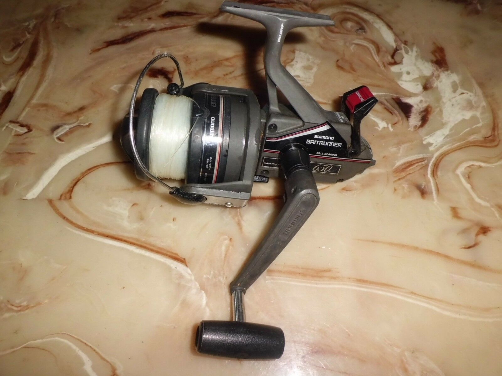 Vintage Shimano Baitrunner 650 Graphite Spinning Reel made made made in Japan b6d458