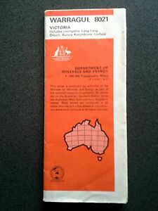 WARRAGUL-GIPPSLAND-MINERALS-ENERGY-TOPOGRAPHIC-MAP-BOOK-GUIDE-1ST-ED-1973-AUST