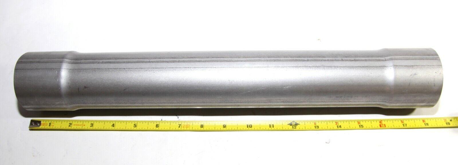 "2 1//2/"" ID x 18/"" Length Aluminized Steel Exhaust Resonator Pipe 2.5/""X18/"""