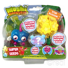 New Moshi Monsters Super Seeds Blue Luvli & Star Blossom Action Figure Official