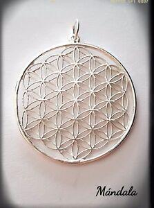 Mandala Flor De La Vida Geometria Sagrada Flower Of Life Silver