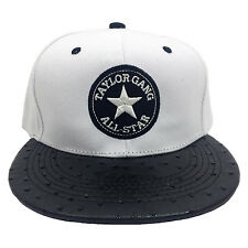 Taylor Gang All Star Embroidered White/Black Ostrich Brim Snapback Hat Cat
