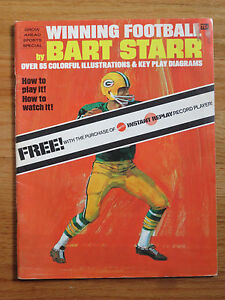 WINNING FOOTBALL by BART STARR Promo 1971 MATTEL INSTANT REPLAY Record Player