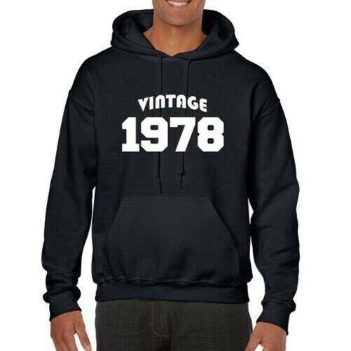 100% De Qualité Vintage 1978 Capuche - 42nd Anniversaire, Cadeau, Collecteurs, Rétro Divers Styles