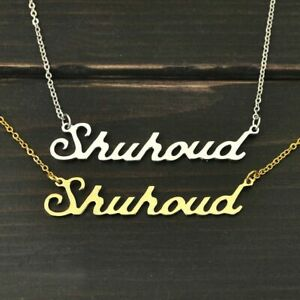Personalized Necklace Name Pendant Jewelry Name Plate Gift Accessories Women