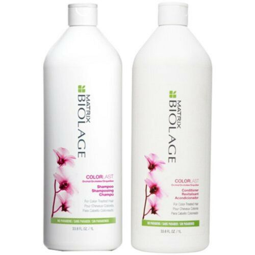 1 of 1 - MATRIX BIOLAGE COLOR LAST SHAMPOO AND CONDITIONER 1 LITRE WITH PUMPS FREE SHIP