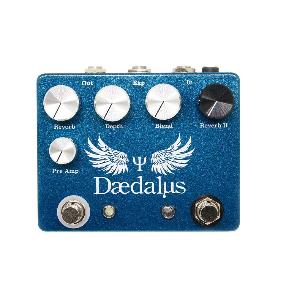 CopperSound Daedalus Dual Reverb Guitar Effects Pedal Stompbox Powder Blau