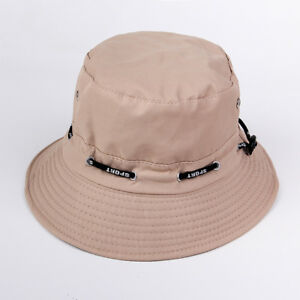 6b2cba99b95 Unisex Bucket Sun Hats Men s Summer Hunting Fishing Outdoor Hat Cap ...