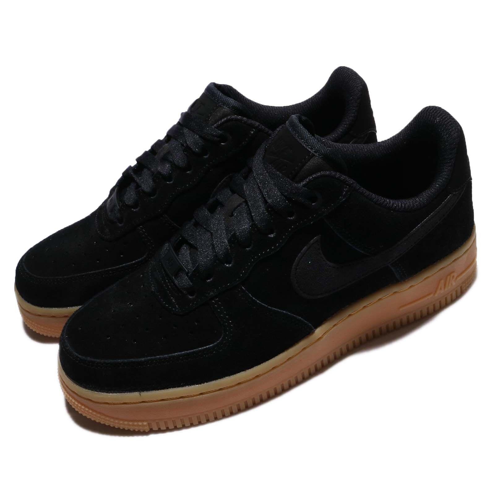 Nike Wmns Wmns Wmns Air Force 1 07 se Negro Goma Med AF1 AA0287-002 Mujeres Zapatos De Gamuza Marrón  venta mundialmente famosa en línea