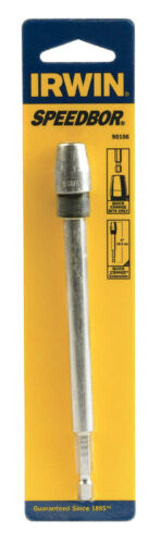Irwin  6 in Steel  Extension Drill Bit  1//4 in Quick-Change Hex Shank  1 pc.