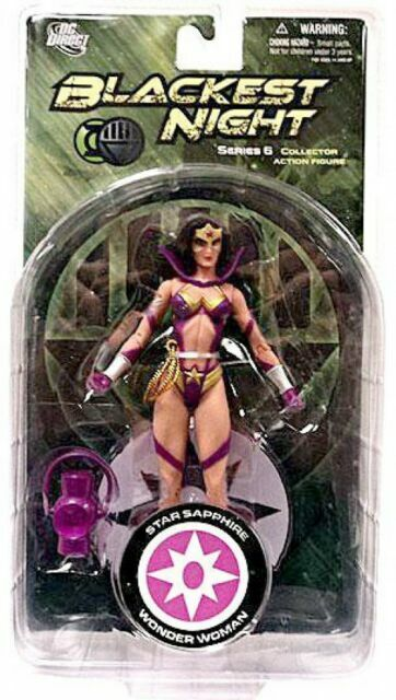 Blackest Night Ser 6 Star Sapphire Wonder Woman 6in Action Figure DC Direct Toys